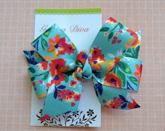 M2M Lilly Modern Blooms Classic Diva Bow