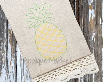 Machine Embroidery Design Pineapple Vintage INSTANT DOWNLOAD