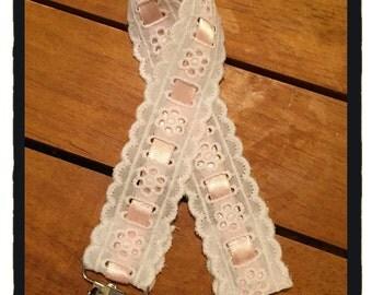 Vintage Lace Pacifier Clip
