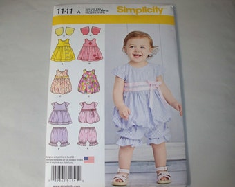 New Simplicity Baby Girl Clothes Pattern, 1141  (Free US Shipping)