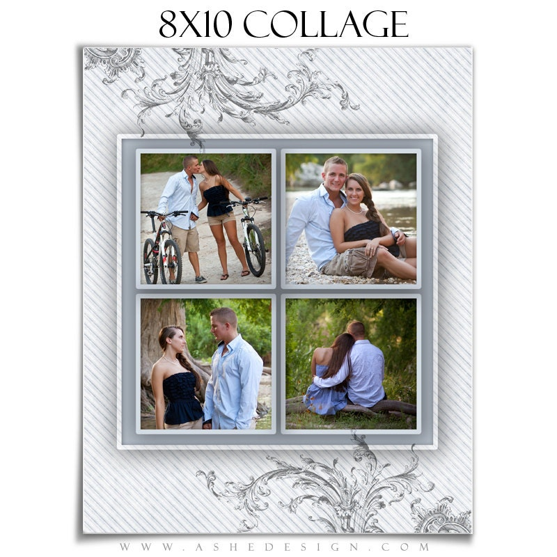 family collage template wings of love 1 8x10 1 sided digital photoshop template for. Black Bedroom Furniture Sets. Home Design Ideas