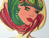 Vintage Woman's Head Face Clothing Hanger Lady with Sunglasses Store Display, Boutique or Home Décor Milano, Italy