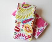 ON SALE Burp Cloths - Girl Burp Rags - Baby Girl Gift - Set of 2 Burp Rags