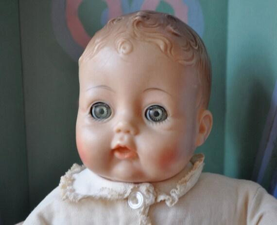 Sweet Madame Alexander Baby Doll Vintage 1960s Victoria Soft border=