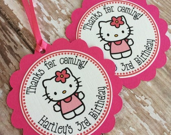 Personalized Hello Kitty Favor Tags