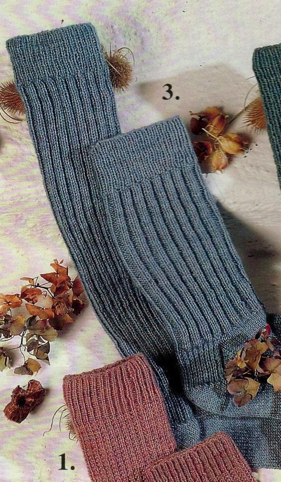 PDF Knitting Pattern / 4 Ply Socks in 4 styles / 3 sizes ...