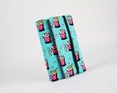 Adjustable paperback book cover - Ice buckets / Teal green hot pink black white yellow / Summer  / Beach Holidays