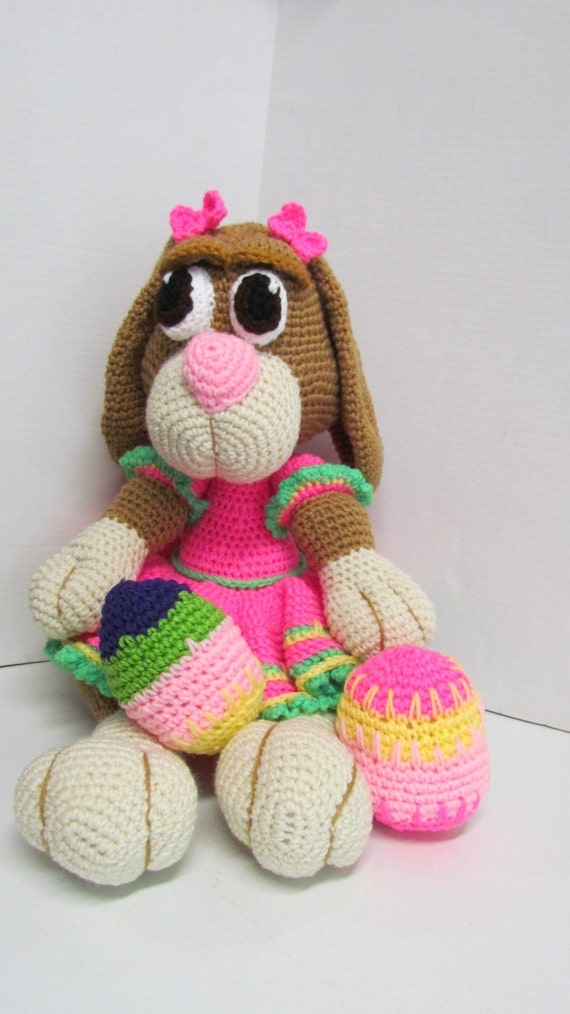 Amigurumi Bunny Girl : Amigurumi Easter Bunny for Girl Easter Bunny by ...