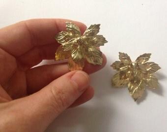 Vintage Sarah Coventry Glamorous Gold Earrings