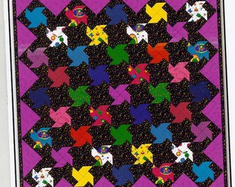 Sale!  Monster Spin quilt pattern (WC1164) - Whistlepig Creek