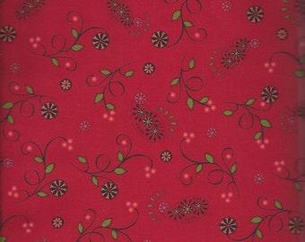 Price Reduced!  Paisley & Vine in Red (ABEL880-R) - BTY - Pat Sloan