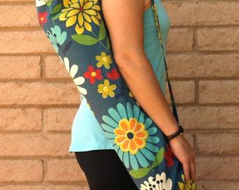 Navy Floral Yoga Mat Bag, Yoga Mat Tote, Yoga Bag, Yoga Tote, Yoga Mat Sling, Yoga Sac, Yoga Sack, Yoga Mat Carrier, Handmade RELAX