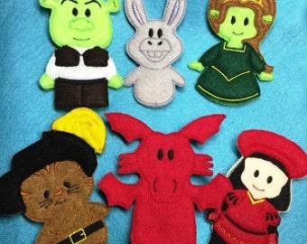 Ogre and Friends Finger Puppet Set