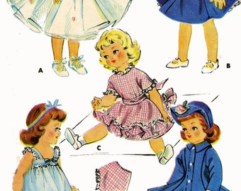 Old Doll Clothes Pattern for 14 - 15 inch Sweet Sue or Toni by American Character