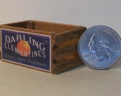 Miniature Clementines Crate  1:12 scale