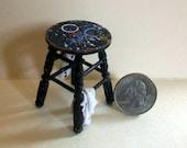 Miniature Artist Stool   1:12 scale
