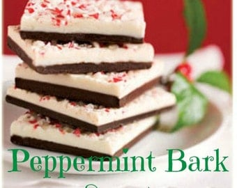 PEPPERMINT BARK Scented Soy Wax Melts - Scent Type* -  Wickless Candle Tarts - Highly Scented - Handmade In USA - American Grown Soy