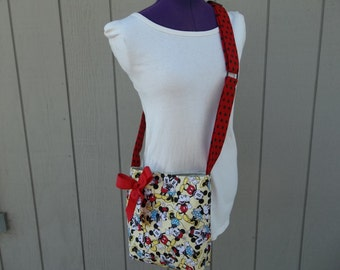Minnie and Mickey Mouse Crossbody Shoulder Bag