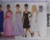 Butterick 6421 Sewing Pattern Girls' Shrug, Prom Dress, Party Dress and Dress Pattern, Size 7, 8, 10