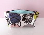 Large waterproof wash / make-up bag.  'Geo Swirls' design