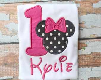 Girls Minnie Mouse Birthday Shirt, Minnie Mouse Shirt, Minnie Mouse Birthday Shirt