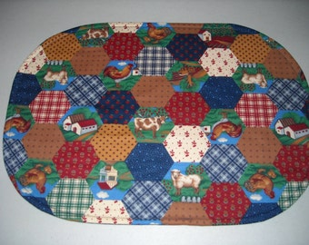 Country farm reversible placemat