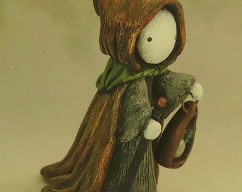 "Tarot Poppet - ""The Hermit""  Limited Edition Tarot Poppet  by Lisa Snellings  #17/100"