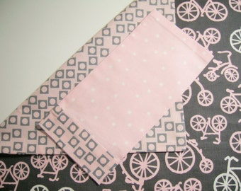 18-Inch Doll Bedding - Bicycle Girl Comforter and Pillowcase -18 Inch Doll Bedding -  Ready to Ship - Made To Order-You Choose Fabric