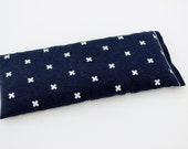 Lavender Flax Seed Eye Pillow, Navy Blue with White Crosses, Shower Hostess Gift