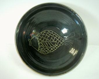 Charcoal Stoneware Fish Bowl