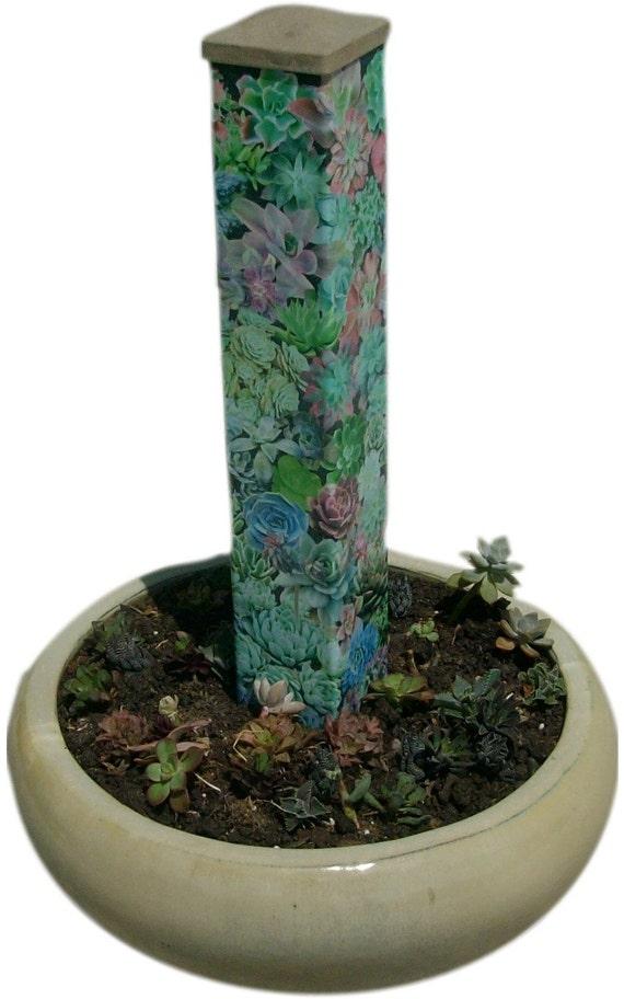 Garden Art Peace Pole Echeveria