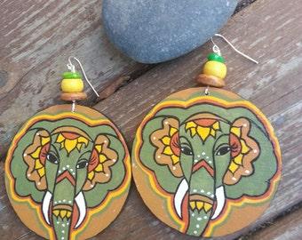 Chanda Bohemian Hand Painted Earrings