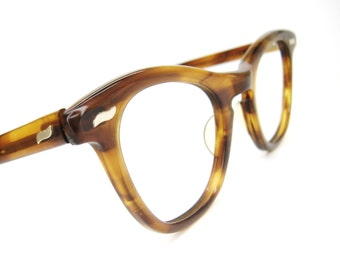 Vintage 50s Tortoise Brown Cat eye Eyeglasses Sunglasses Frame Excellent