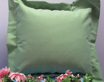 Pillow Cover Monogrammed Handmade Sage Green
