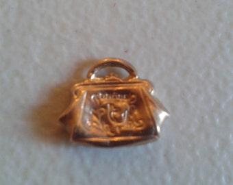 Charm - Vintage 9 kt Gold Charm - Handbag