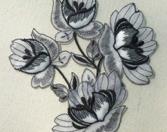 Vintage Swiss Embroidered Organdy Appliques