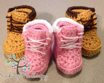 His or Hers Crochet Inspired Timberlands