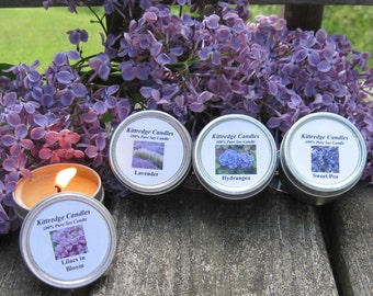 FLORAL SAMPLER (four 2-oz soy candles)