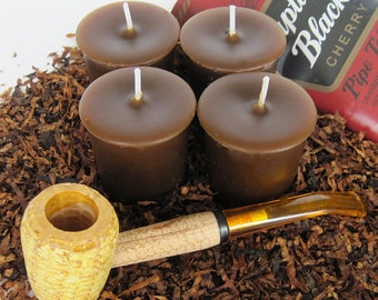 CHERRY PIPE TOBACCO (4 votives or 4-oz soy jar candle)