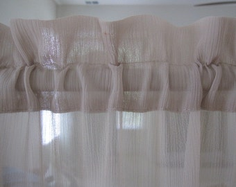 Sheer Curtain, Beige Sheer Curtain with Textured Design 84 long...a total of 4 are available