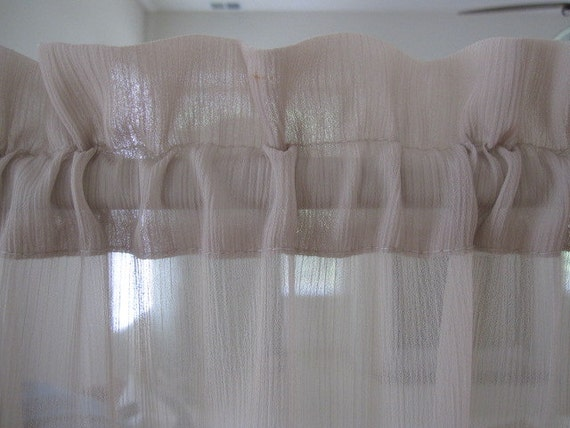 Sheer curtain beige sheer curtain with textured design 84 long a