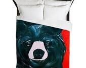 Black bear Duvet Cover from my artwork.