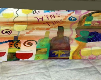 Wine Time wine body pillow from my art