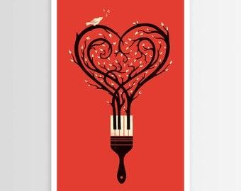 Enkel Dika's Paint Your Love Song Poster