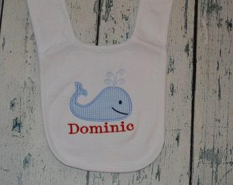 Personalized Whale Infant Bib