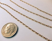 Twisted Figaro Gold Filled Chain - 2 Feet 9 Inches