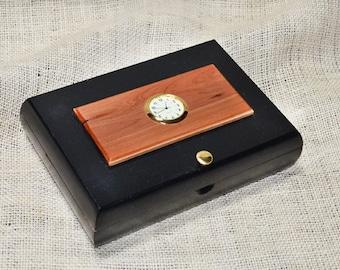 Valet box / Desk Clock Cigar Box - No. 608.156