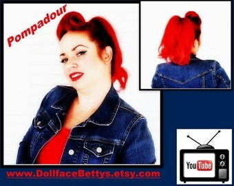 DollfaceBettys Rockabilly Pompadour Hair Styling Tool for Women