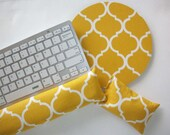 Keyboard rest and / or WRIST REST set MousePads  - Pick your own pattern - mouse pad set coworker gift  office Desk Accessories college