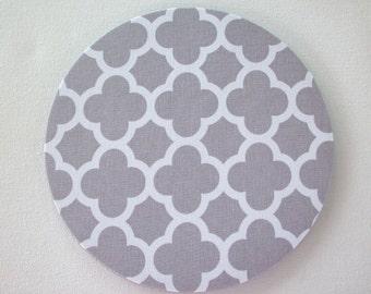 mousepad / Mouse Pad / Mat round  or rectangle - Trellis in gray - desk computer coworker gift accessory decor